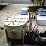 Silo pour lait de chaux pour le traitement des eaux piscines, industrie...