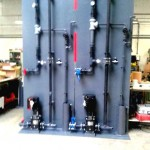 Matériel et traitement du chlore piscine, panneau PVC, kit injection ozone